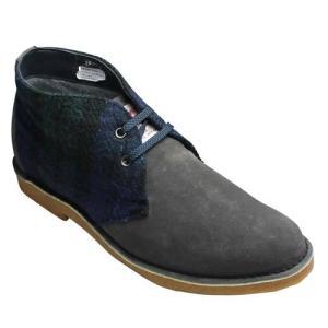 ヒロミチ ナカノ/ハリスツィード使用デザートブーツ/164H(グレー)/メンズ 靴|essendo