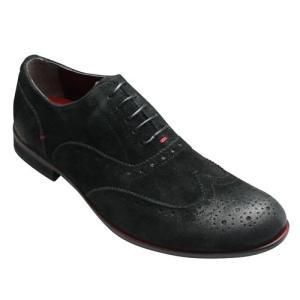 ヒロミチ ナカノ/スエード素材ドレスカジュアル/453H(ブラックベロア)/替え紐付き/メンズ 靴|essendo