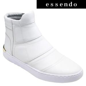 ハイカットスニーカージェイド/カジュアルショートブーツ・jd503(ホワイト)/メンズ 靴 essendo