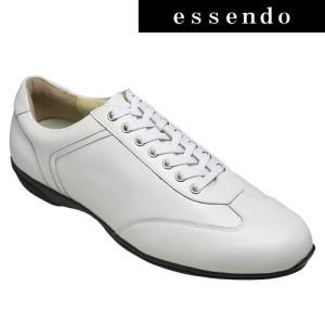 レザースニーカーマドラス/レースアップドレス&カジュアルレザースニーカー/M3302(ホワイト)/メンズ 靴 essendo