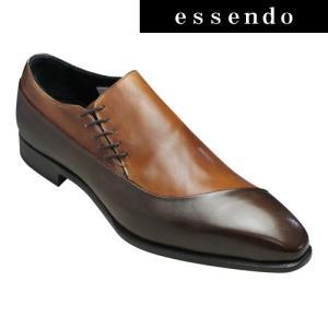 マドラス ビジネスシューズ サイドレースの片流れスワールモカ M9072 ライトブラウンコンビ madras メンズ 靴 essendo