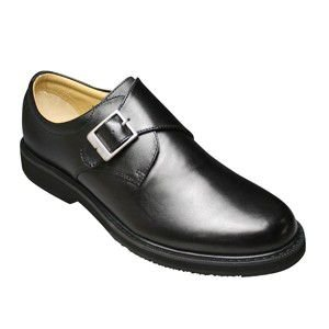 【WALKERS-MATE(ウォーカーズ・メイト)】牛革多機能コンフォートビジネスシューズ・サイドベルト(プレーントゥ)MW6600(ブラック)/メンズ 靴 essendo