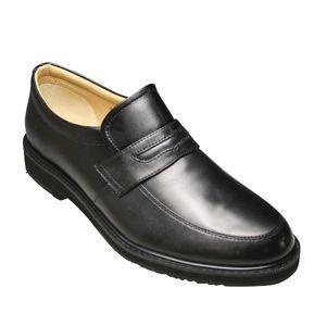 【WALKERS-MATE(ウォーカーズ・メイト)】牛革多機能コンフォートビジネスシューズ・ローファーMW6800(ブラック)/メンズ 靴 essendo