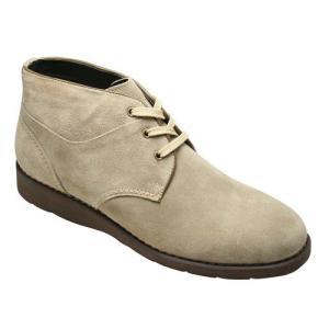 プロ コンフォート/ブーツ デザートブーツ/PC271 ベージュスエード/3E幅広軽量/メンズ 靴|essendo
