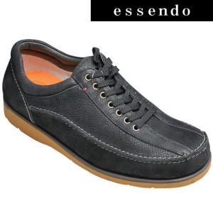 プロコンフォート/超軽量レザースニーカー(ローモカ)/PC289(ブラック)/日本製の/4E/PRO-COMFORT/メンズ 靴|essendo