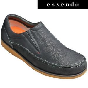 プロコンフォート/超軽量サイドゴアスリッポン/PC290(ブラック)/日本製の/4E/PRO-COMFORT/メンズ 靴|essendo