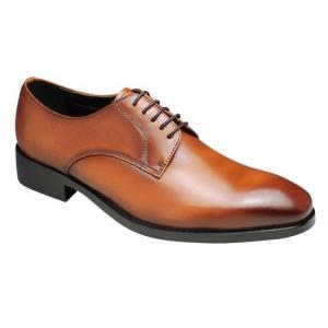 エセンドセレクション/脚長ビジネスシューズ プレーントゥ/PH1510 ブラウン/プリムローズヒル/メンズ 靴|essendo