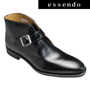 ストラップブーツリーガル ストラップブーツ プレーントゥ ダイナイトソール採用 21NR ブラック REGAL メンズ 靴|essendo