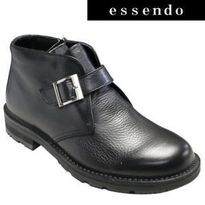 サイドストラップブーツリーガルウォーカー/全天候型サイドストラップブーツ(プレーントゥ)・RE229W(ブラック)冬底/3E幅・防滑タイプ/REGAL メンズ 靴|essendo