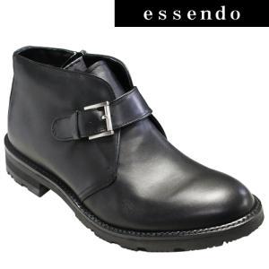 サイドストラップブーツリーガルウォーカー/全天候型サイドストラップブーツ(プレーントゥ)・RE235W(ブラック)冬底/4E幅・防滑タイプ/REGAL メンズ 靴|essendo