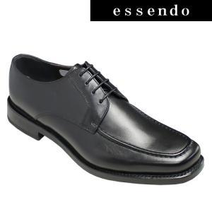 ビジネスシューズリーガル/ボリュームを持たせたUモカシンビジネスシューズ(スクエアトゥ)・40MR(ブラック)/REGAL メンズ 靴|essendo