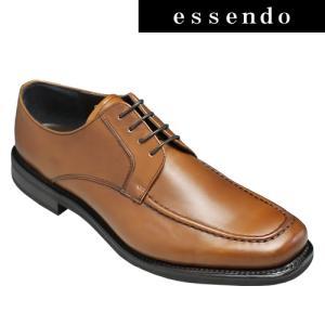 ビジネスシューズリーガル/ボリュームを持たせたUモカシンビジネスシューズ(スクエアトゥ)・40MR(ブラウン)/REGAL メンズ 靴|essendo