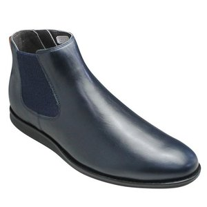 REGAL(リーガル)/牛革サイドゴアブーツ/68JR(ネイビー)/ロングノーズ/メンズ 靴|essendo