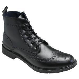 REGAL(リーガル)/レインブーツ(ウイングチップ・レースアップ)/71HR(ブラック/ブラック)/トリッカーズモデル/メンズ 靴|essendo