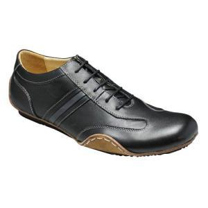 エセンドセレクション/レザースニーカー レース スムース/TGS0410 ブラック/ロングノーズ/メンズ 靴|essendo