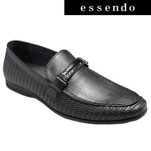 ローファートラサルディ/ドレスカジュアルスリッポン(ビットローファー)・TR17012(ブラック)/TRUSSARDI メンズ 靴|essendo
