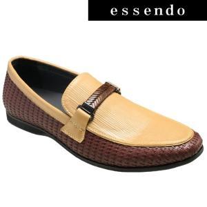 ローファートラサルディ/ドレスカジュアルスリッポン(ビットローファー)・TR17012(ダークブラウンコンビ)/TRUSSARDI メンズ 靴|essendo
