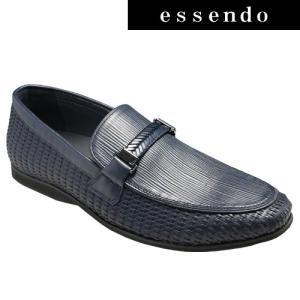 ローファートラサルディ/ドレスカジュアルスリッポン(ビットローファー)・TR17012(ネイビー)/TRUSSARDI メンズ 靴|essendo