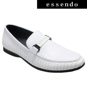 ローファートラサルディ/ドレスカジュアルスリッポン(ビットローファー)・TR17012(ホワイト)/TRUSSARDI メンズ 靴|essendo