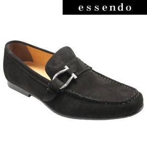 ローファーモデロヴィータ/ロングノーズの牛革スリッポン(ローファー)・VT5682(ブラックスエード)/MODELLO VITA メンズ 靴|essendo
