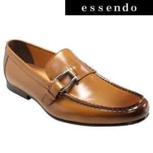 ローファーモデロヴィータ/ロングノーズの牛革スリッポン(ローファー)・VT5682(ライトブラウン)/MODELLO VITA メンズ 靴|essendo