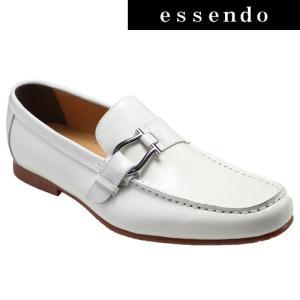 ローファーモデロヴィータ/ロングノーズの牛革スリッポン(ローファー)・VT5682(ホワイト)/MODELLO VITA メンズ 靴|essendo