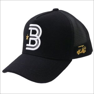 YOSHINORI KOTAKE(ヨシノリコタケ) x BEAMS GOLF(ビームス ゴルフ) B LOGO WOOL MESH CAP (キャップ) BLACK 251-001173-011x【新品】(ヘッドウェア)|essense