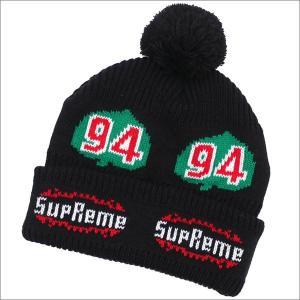 SUPREME(シュプリーム) Leaf Beanie (ビーニー) BLACK 253-000425-111+【新品】(ヘッドウェア)|essense