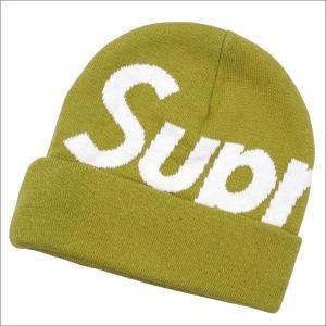 SUPREME(シュプリーム) Big Logo Beanie (ビーニー) MOSS GREEN 253-000427-015+【新品】(ヘッドウェア)|essense