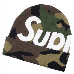 SUPREME(シュプリーム) Big Logo Beanie (ビーニー) WOODLAND CAMO 253-000427-019+【新品】(ヘッドウェア)|essense