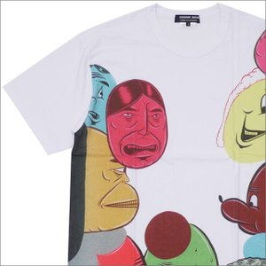 COMME des GARCONS HOMME DEUX(コムデギャルソン オムドゥー) x Barry McGee FACE TEE (Tシャツ) WHITE 200-007708-050x【新品】(半袖Tシャツ)|essense