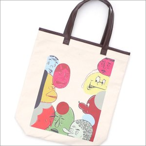 COMME des GARCONS HOMME DEUX(コムデギャルソン オムドゥー) x Barry McGee FACE TOTE BAG KNR 277-002474-010x【新品】(グッズ)|essense