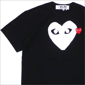 PLAY COMME des GARCONS(プレイ コムデギャルソン) WHITE HEART RED WAPPEN TEE (Tシャツ) BLACK 200-007734-041x【新品】(半袖Tシャツ)