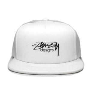 STUSSY (ステューシー) 131694-white SMOOTH STOCK TRUCKER CAP [メッシュキャップ] WHITE 620-005876-010|essense