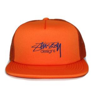 STUSSY (ステューシー) 131694-orange SMOOTH STOCK TRUCKER CAP [メッシュキャップ] ORANGE 620-005877-018|essense