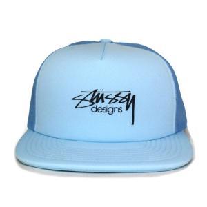 STUSSY (ステューシー) 131694-blue SMOOTH STOCK TRUCKER CAP [メッシュキャップ] BLUE 620-005878-014|essense