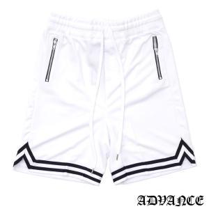 ADVANCE (アドヴァンス) ARS-6013 THROWBACK SHORT [ショーツ][ハーフパンツ][バスパン] WHITE 694-000092-050|essense