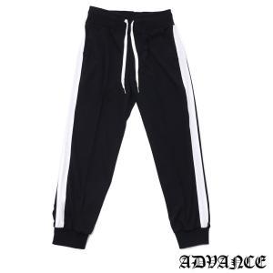 ADVANCE (アドヴァンス) ARS-6006 SIDE LINE TRACK PANT [トラックパンツ] BLACKxWHITE 694-000093-041|essense