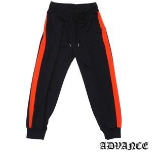 ADVANCE (アドヴァンス) ARS-6006 SIDE LINE TRACK PANT [トラックパンツ] BLACKxORANGE 694-000093-048|essense