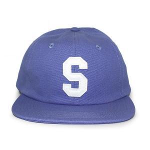 STUSSY (ステューシー) 131678-blue FELT S CANVAS STRAPBACK CAP [ストラップバックキャップ] BLUE 620-006004-014|essense