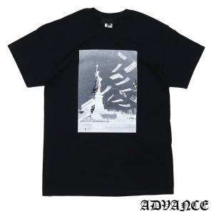 ADVANCE (アドヴァンス) ARS-6008 MONEY GUN TEE [Tシャツ] BLACK 694-000094-041|essense