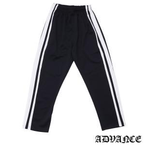 ADVANCE (アドヴァンス) ARS-6005 SIDE LINE TRACK PANT-2 [トラックパンツ] BLACKxWHITE 694-000097-041|essense