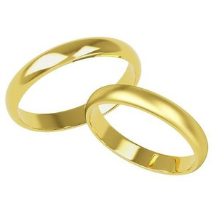 K18 鍛造!!甲丸 3mmペアリング(結婚指輪)★H0212Y-3Z|estacionjewelry|01
