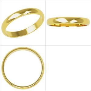 K18 鍛造!!甲丸 3mmペアリング(結婚指輪)★H0212Y-3Z|estacionjewelry|02
