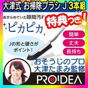 大津式お掃除ブラシJ(3本組) 掃除のプロ大津たまみさん監修 日本製