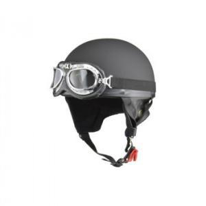全国一律送料800円※一部対象外地域あり   リード工業 CROSS ビンテージハーフヘルメット マットブラック フリーサイズ CR-750 【メーカー直送品】|esteem-direct