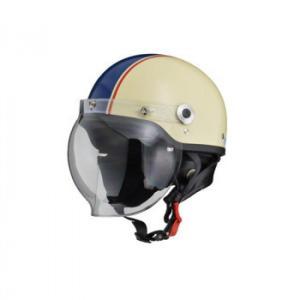 全国一律送料800円※一部対象外地域あり   リード工業  CROSS ハーフヘルメット アイボリー×ネイビー フリーサイズ CR-760 【メーカー直送品】|esteem-direct