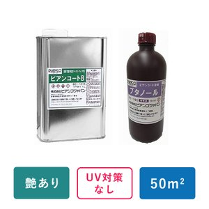 50平米対応 ビアンコートB&希釈用ブタノールセット (艶有/UV対策なし 1L缶+希釈用ブタノール...