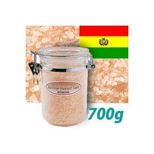 天然塩の入浴剤 【世界のバスソルト ボリビア サンセットソルト】 700g ボリビア産 バスソルト ミネラル塩 自然塩|esthemart