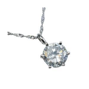 プラチナPt900 超大粒1.5ctダイヤモンドペンダント/ネックレス (鑑定書付き)|estim